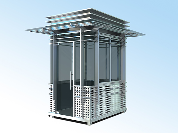 1.5x2.0x2.5不锈钢冲孔板岗亭